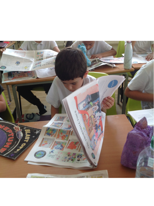 make a newspaper for school project - Happiedays