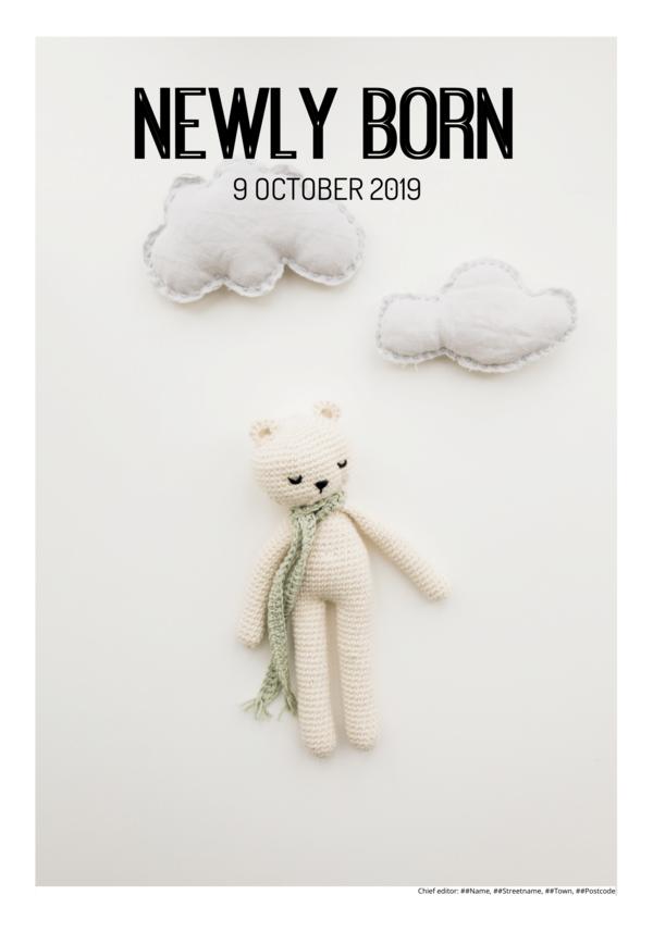 make a newspaper newspaper template baby announcement - happiedays