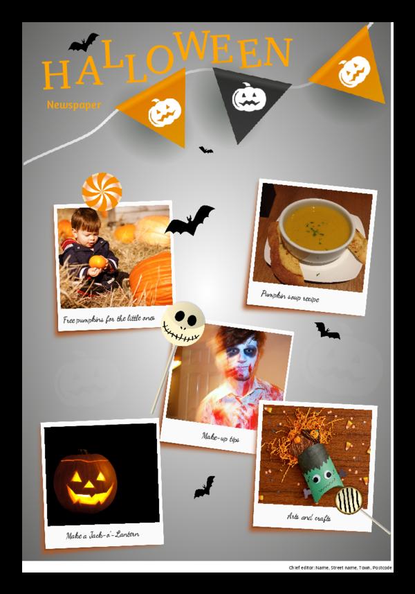 make a newspaper newspaper template halloween - happiedays