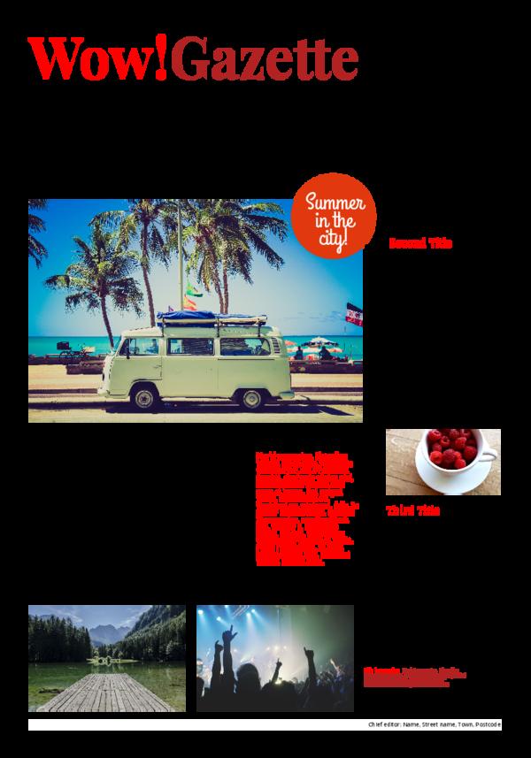 make a newspaper newspaper template holiday travel report - happiedays