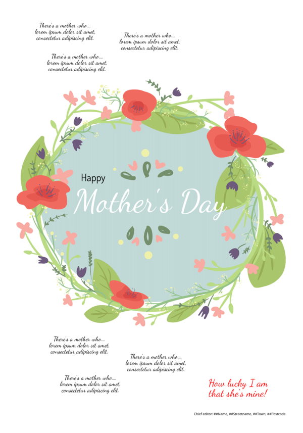 make a newspaper newspaper template mother's day - Happiedays