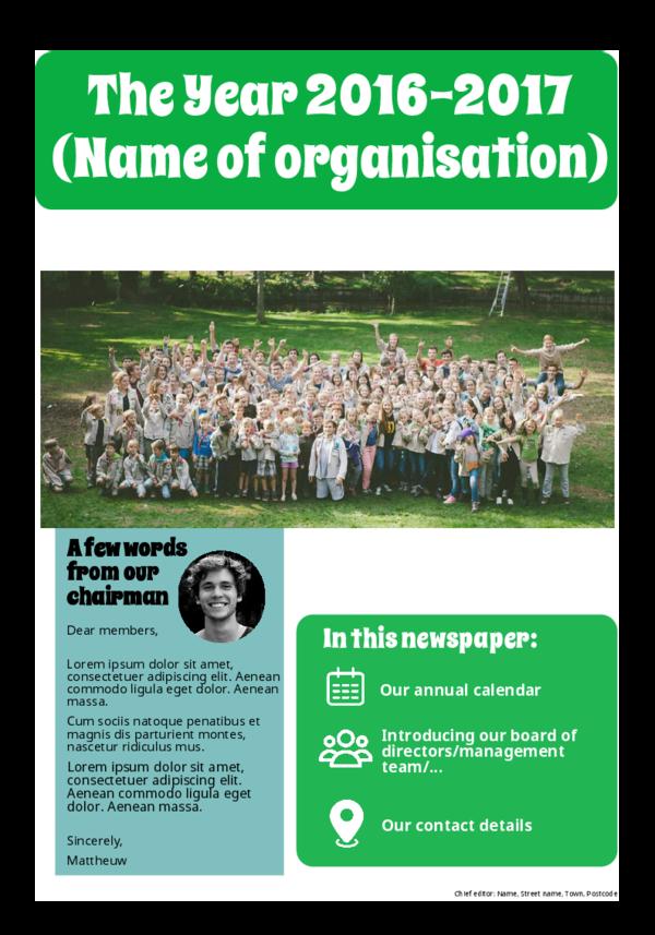 make a newspaper newspaper template new working year - happiedays