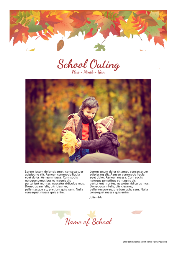 make a newspaper newspaper template school outings - happiedays