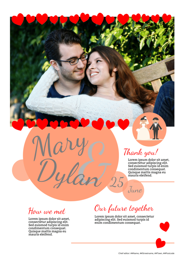 make a newspaper newspaper template wedding - happiedays