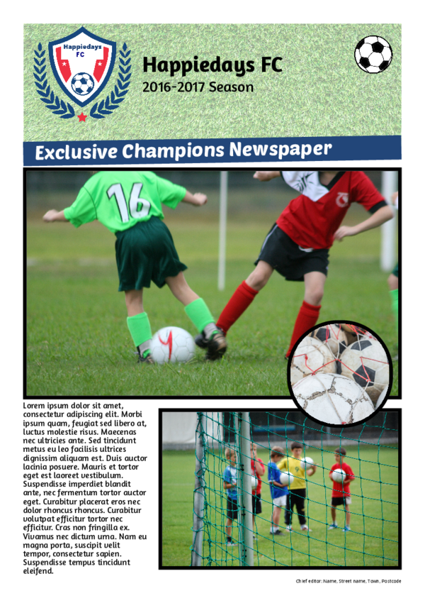 make a newspaper newspaper template sports - happiedays
