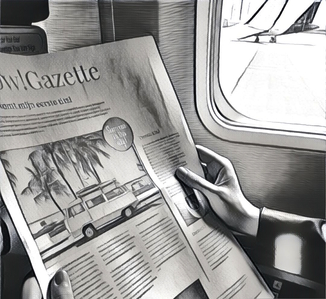 make a newspaper to commemorate your travels - Happiedays