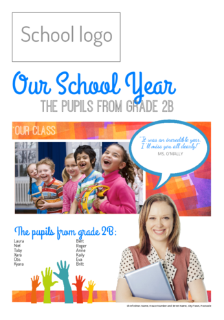 An end-of-year school newspaper is a great farewell gift - Happiedays