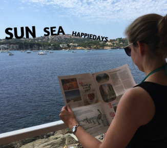 make your own travel report in a newspaper - Happiedays